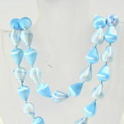 Vintage Powder Blue Beaded Necklace – Beautiful