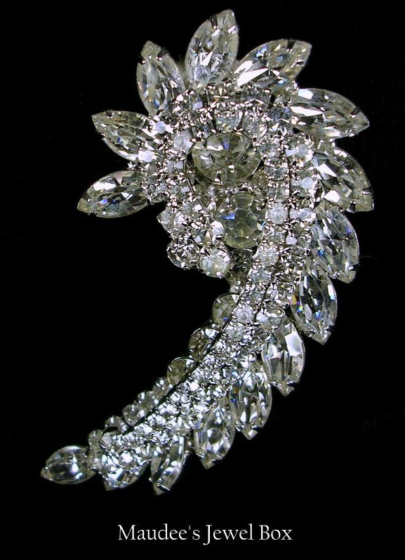 Delizza & Elster Juliana Large Diamond Rhinestone Brooch Pin
