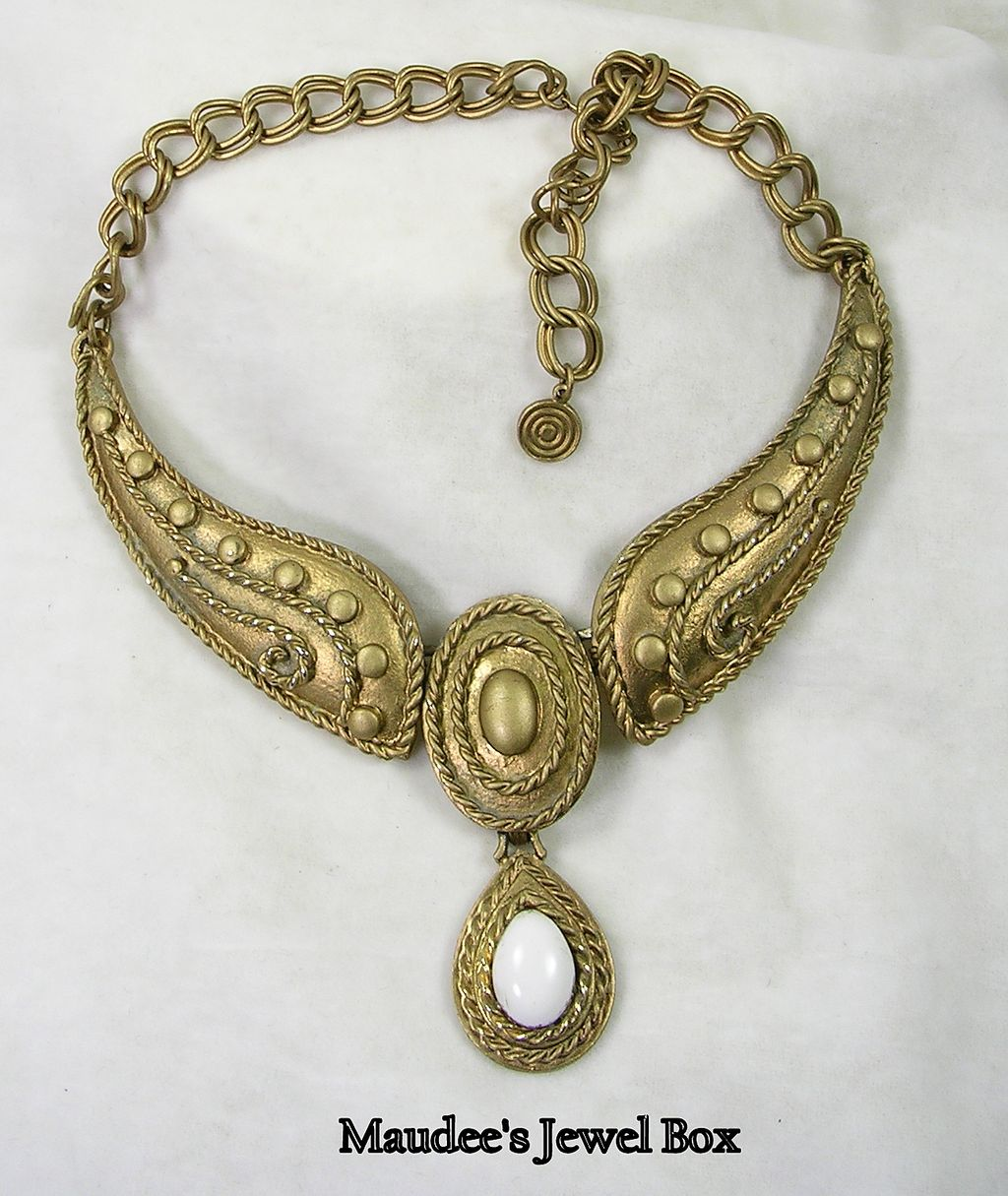 Bronzed Goldtone Egyptian Style Necklace