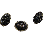 Grouping Early Metal Buttons Marcasite Style with Shank Backs