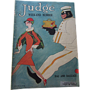 Judge Magazine August 14, 1926 with Controversial Cover Bag and Baggage
