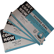 Ink Blotters Phoenix Coal Buy Coal Now Product of Island Creek Ralph Baze Osco Ill.
