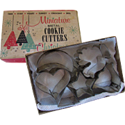 Miniature Metal Cookie Cutters for Christmas Six Pieces Original Box