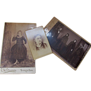 Trio Macabre Vintage Photographs CDV from Early 20th Century