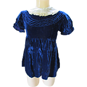 Little Girl Party Dress in Midnight Blue Velvet