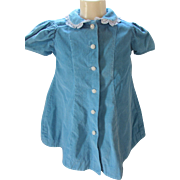 Large Doll or Toddler Dress in Turquoise Corduroy Little Star Frocks Size 2