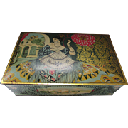 Vintage Boho Style Biscuit or Candy Tin with Spanish style lady by Canco