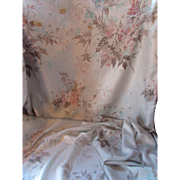 Vintage 1950 Era Drapery Panels in Neutral Pastels Silky Rayon for Salvage or Repurposing