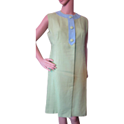 Color Block Summer Dress in Lime Green and Sky Blue Shannon Rodgers by Jerry Silverman