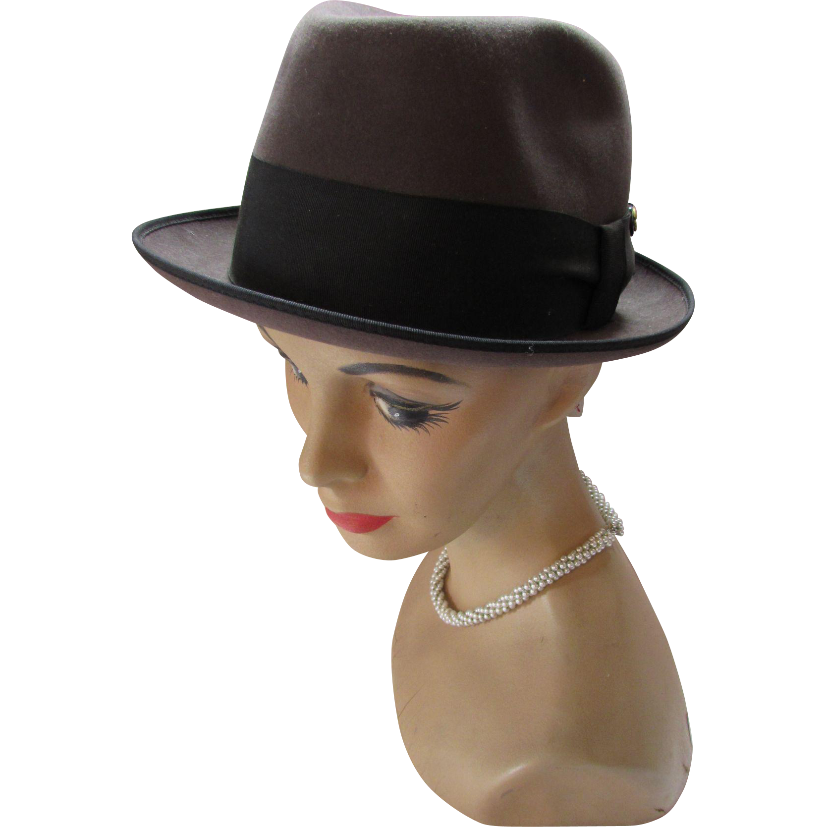 Mens Fedora in Dove Gray by University The Excellency Size 7 Unisex