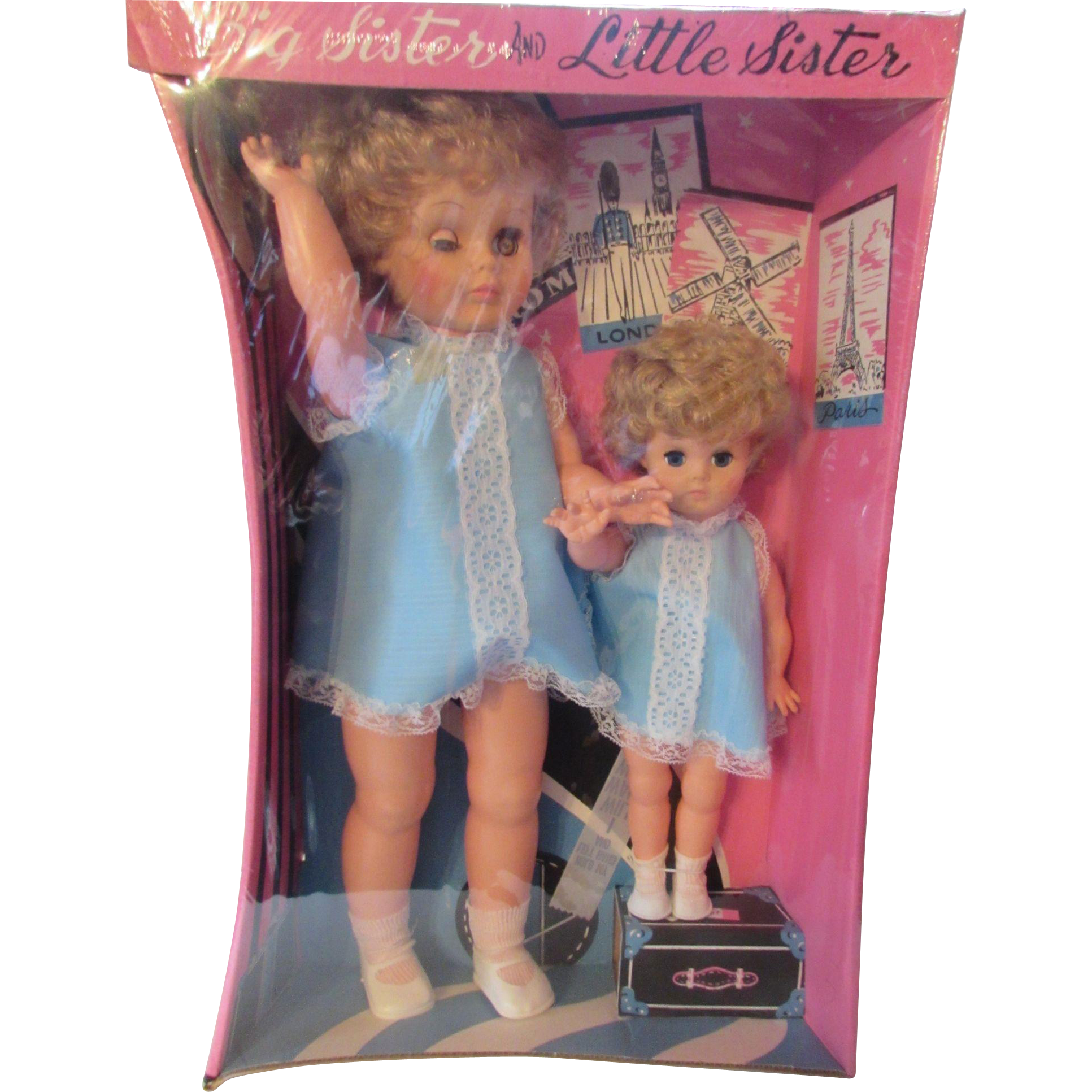 Big Sister Little Sister Mint in Box Eugene Doll Company Mid 1970's