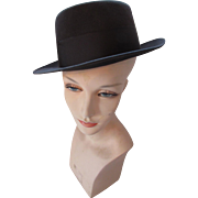 Unisex Men's Homburg Hat in Charcoal Gray by Richellieu Felts Size 7 3/8