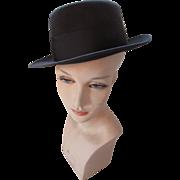 Unisex Men's Homburg Hat in Charcoal Gray by Richellieu Felts Size 7 3/8