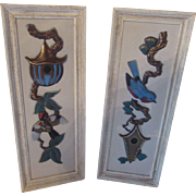 Mid Century Wall Decor Ideal Originals of Southern California Hand Decorated Panels Bird Design