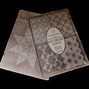 Pair Patchwork Quilt Design Booklets 1930's  WLM Clark