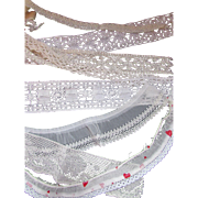 Vintage Lace Pieces for Doll Clothing and Cottage Style Crafts