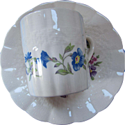 Flower Ring Demitasse Cup Saucer 6 Piece Set SOHO Potteries Ambassador Ware England Reedwoods Pattern
