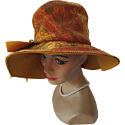 Mod Style 1970 Era Slouch Hat in Autumn Tone Corduroy by Sears Millinery Sears Roebuck