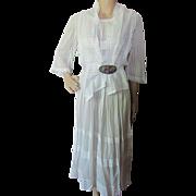 Edwardian Era Ladies Summer White Dress
