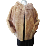 Fawn Mink Cowl Neck Box Style Jacket Mid Century ShillitO's Fur Salon Cincinnati