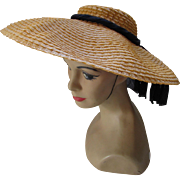 Wide Brim Straw Hat for Summer by Sunnyland Hats