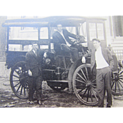 Photo Post Card Men in Early Delivery Truck W. Green and Sons