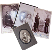 Four Couples Theme Cabinet Cards Victorian Era Photographs Cartes de Visite Kansas Nebraska Origin