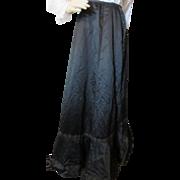 Fabulous Victorian Era Black Mourning Skirt with Padded Bustle