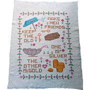 Cross Stitch and Applique Sampler Make New Friends