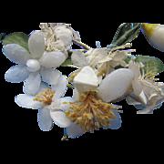 Wax Orange Blossom Trim from Vintage Wedding Veils