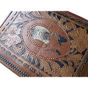 Western Horse Theme Vinyl Notebook Paper Ring Binder Vintage Office Supplies