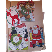 Vintage 1950 Era Scrapbook Christmas Holiday Greeting Card Pages