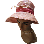 Mid Century Lilly Dache Dachettes Vintage Hat Lampshade Style Pretty in Pink