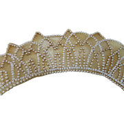 Bridal Head Band with Faux Peals 1930 Era