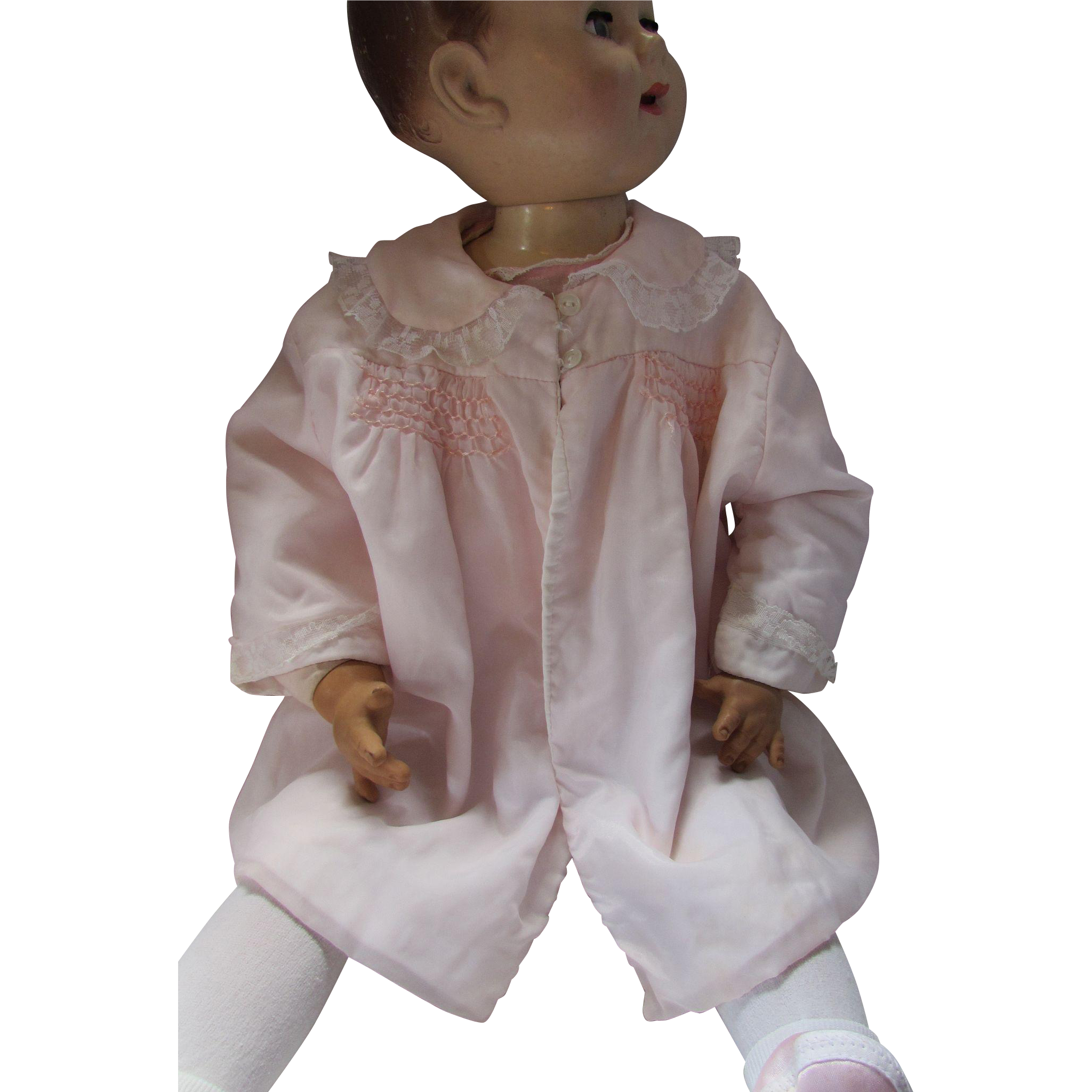 Baby or Doll Jacket in Pretty Pink Delicate Fabric