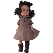 """Ginny Muffie Style Doll in Brownie Uniform 7"""" Tall"""