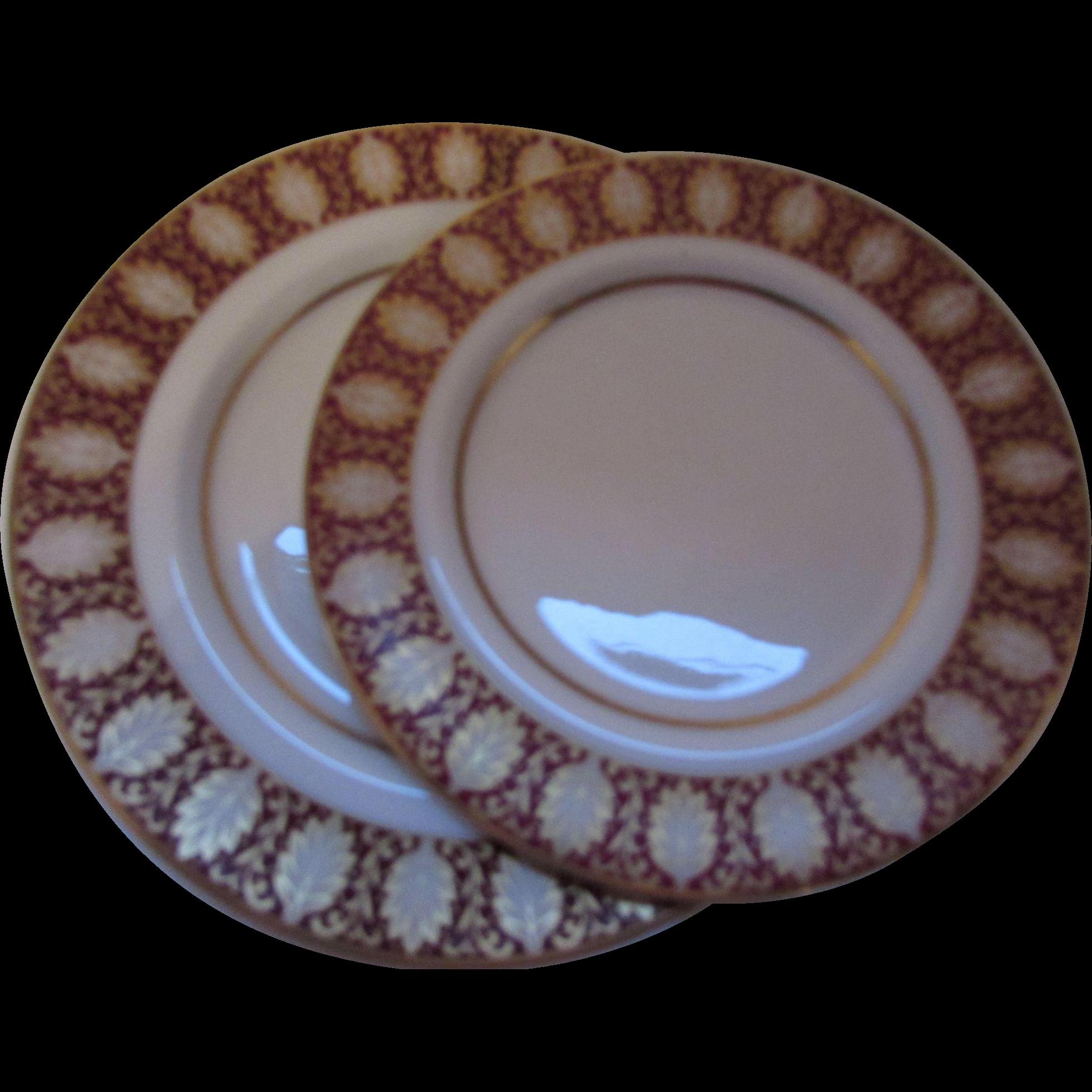 1974 Mikasa Westhampton Pattern 4 Piece Dinner Plate Set