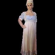 Renaissance Medieval Style Long Dress with Veil Boho Style Summer Dress