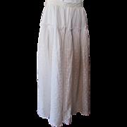 Victorian Edwardian Summer Skirt in Voluminous White Eyelet