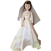 Mid-Century Vinyl Doll Miss Revlon Style in Bridal Gown