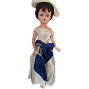 "Arrow Plastic Doll 1950 Era Brunette Hair 25"" Sleep Eyes Movable Arms, Legs, Head"