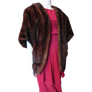 Mahogany Mink Stole Mid Century Design Lewis Furriers Sacramento