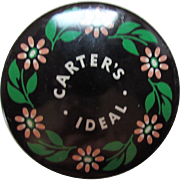 Typewriter Ribbon Tin Carter's Ideal Typewriter Box Carter's Ink Company Underwood Typewriters