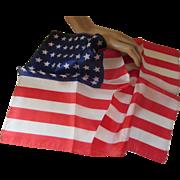 Patriotic Vintage Handkerchief in 48 Star U S Flag Design