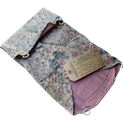 Cottage Style 1926 County Fair Entry Faded Floral Cotton Folding Work Bag Whiteside County Illinois