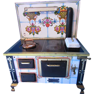 Toy Metal Stove Made in Germany Schopper in Fine Detail and Realistic Design