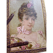 Victorian Era Scrapbook with Colorful Trade Cards, Fashion Plates, Advertisements, Engravings, Lithographs Post 1876