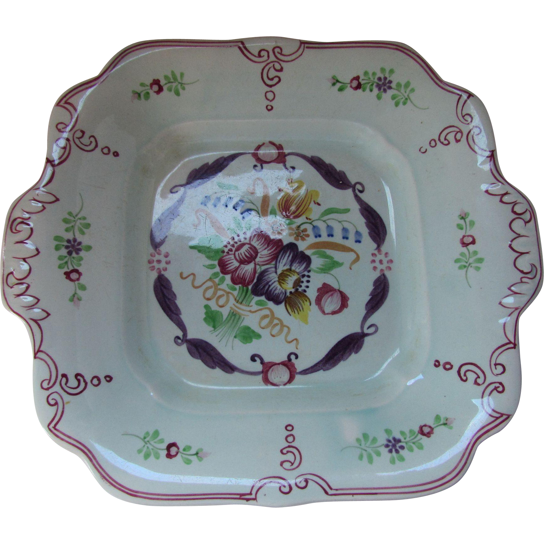 Calyx Ware Country Floral Adams Ware of England Serving Dish