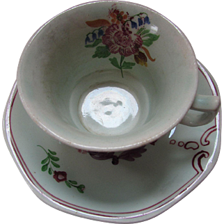 Calyx Ware Adams Ware England Country Floral Cup and Saucer