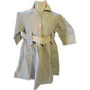 Child's Dress 1920 1930 Style in Blue and White Check